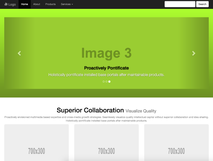 Bootstrap template - Corporate 3