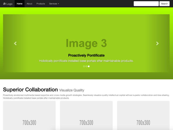 Bootstrap template - Corporate 5