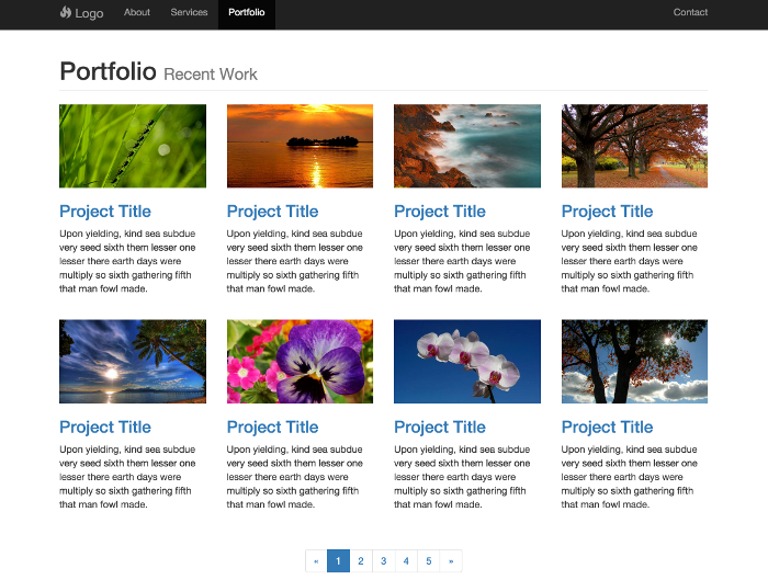 Bootstrap templates free templates for Bootstrap portfolio templates free